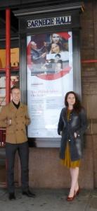 Jordan Saul and John Hudson in front of Carnegie Hall
